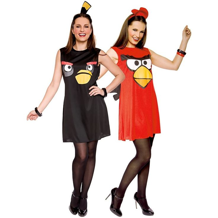 Sassy Angry Bird Costume Adult Angry Birds Video Game Halloween Fancy Dress #PaperMagic