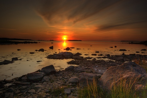 The shoreline of Pori Finland