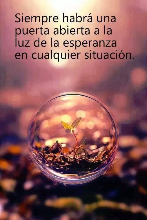 """""""Siempre habrá una puerta abierta a la luz de la esperanza en cualquier situación"""" #FelizMartes :)"""