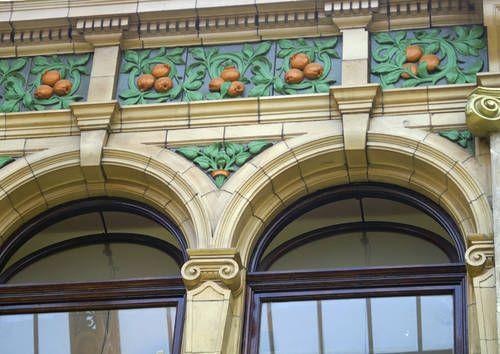 Victorian Ceramic Tiles in Victoria Quarter shopping arcade in Leeds