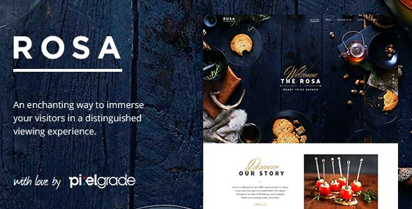 Themeforest – WordPress: ROSA – An Exquisite Restaurant WordPress Theme on Themeforest Free Download http://themeforestfreedownload.com