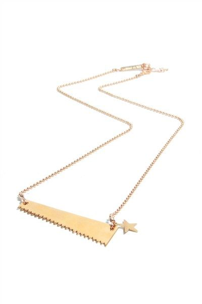 Mimi et Toi – Saw Necklace/Brass and Gold plated  www.amedee.nl