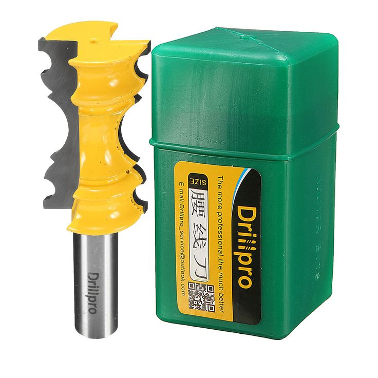Drillpro 1/2' Large Elaborate Chair Rail Molding Router Bit