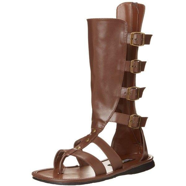 Funtasma Men's Spartan Gladiator Sandal ($46) ❤ liked on Polyvore featuring men's fashion, men's shoes, men's sandals, mens gladiator sandals, mens greek sandals, mens sandals, mens roman sandals and mens shoes