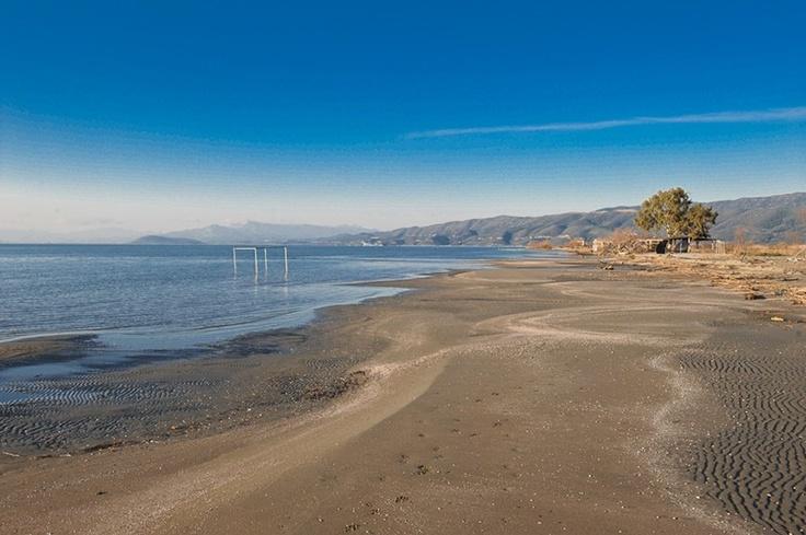 Αμβρακικός - Η παραλία του Αράπη στην περιοχή της Αμφιλοχίας