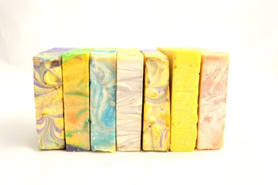 Set of Seven Natural Hadmade Olive Oil  Bar by NaturalBeautyLine