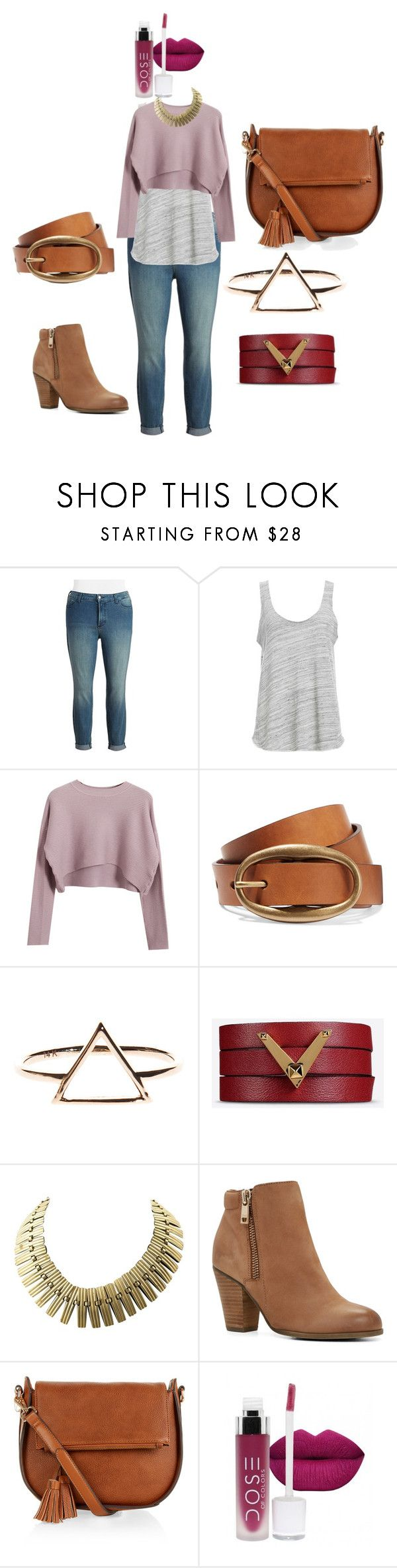 """""""Boho Chick Plussize Outfit"""" by migalowa on Polyvore featuring NYDJ, Project Social T, Chicnova Fashion, Valentino, ALDO, Monsoon, women's clothing, women's fashion, women and female"""