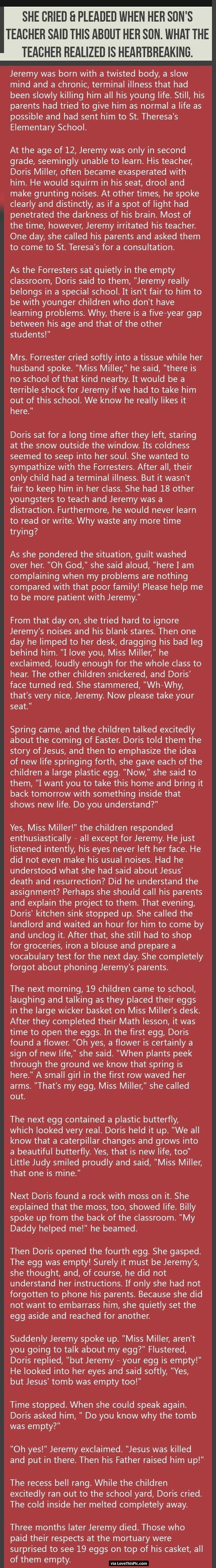 What an amazing story!
