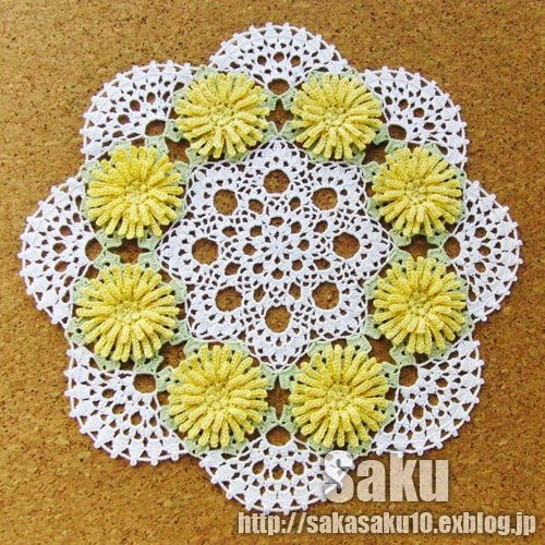 Dandelion Doily Free step by step crochet directions