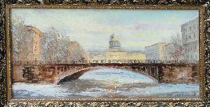 На мосту - Городской пейзаж <- Картины маслом <- Картины - Каталог | Универсальный интернет-магазин подарков и сувениров