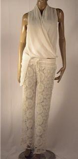 Pantalón en crochet blanco $149.990