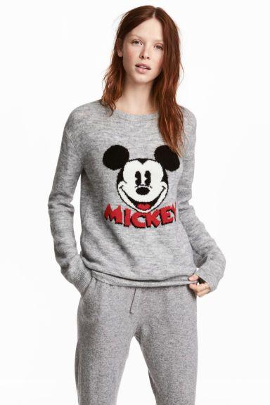 Pull en maille fine - Gris/Mickey - FEMME | H&M FR 1