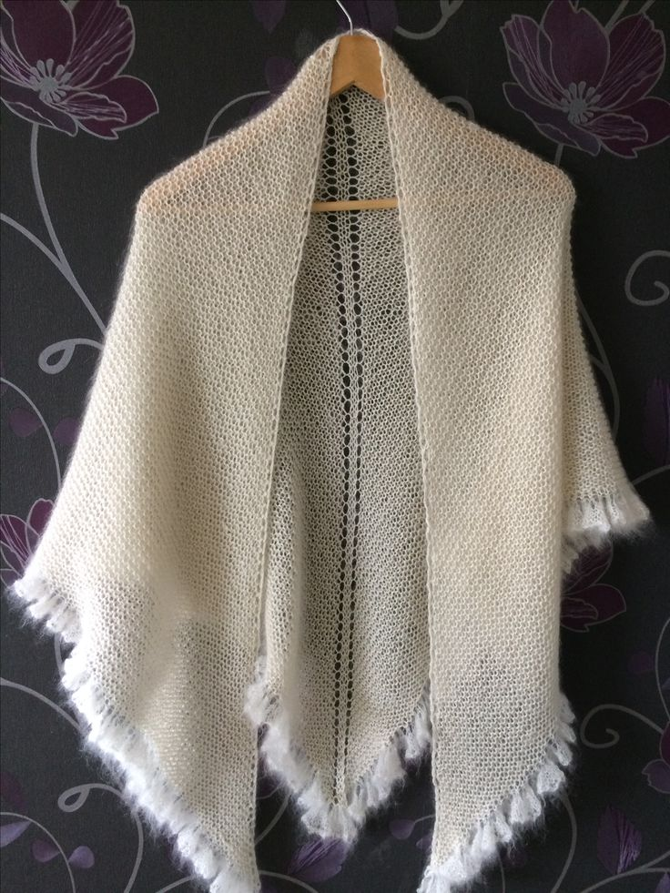 Evening breeze shawl. By order. Pattern by drops design. In Kid Silk and BabyAlpaca Silk.