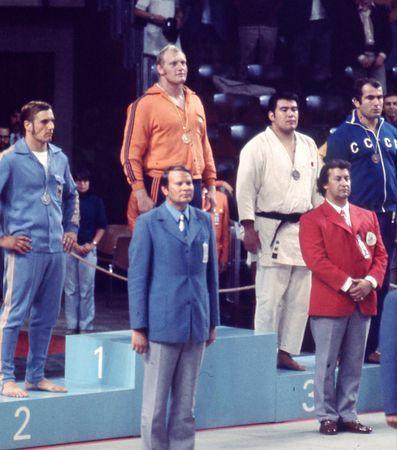 ミュンヘン五輪の93キロ超級で優勝したルスカ氏(左から2人目)=1972年 ▼15Feb2015時事通信|ビレム・ルスカ氏死去=ミュンヘン五輪柔道2冠 http://www.jiji.com/jc/zc?k=201502/2015021500170