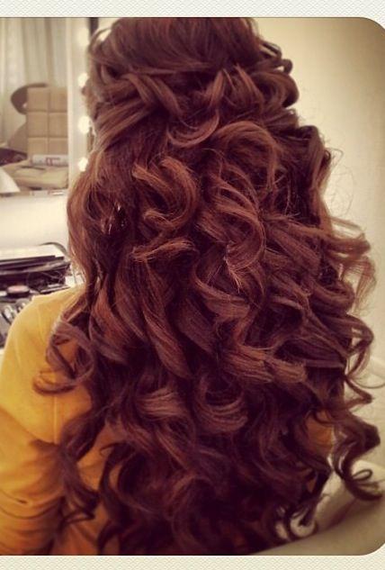 wedding hair big curls