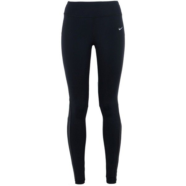 Nike Leggings ($84) ❤ liked on Polyvore featuring pants, leggings, bottoms, jeans, nike, black, legging pants, nike leggings, nike pants and nylon leggings