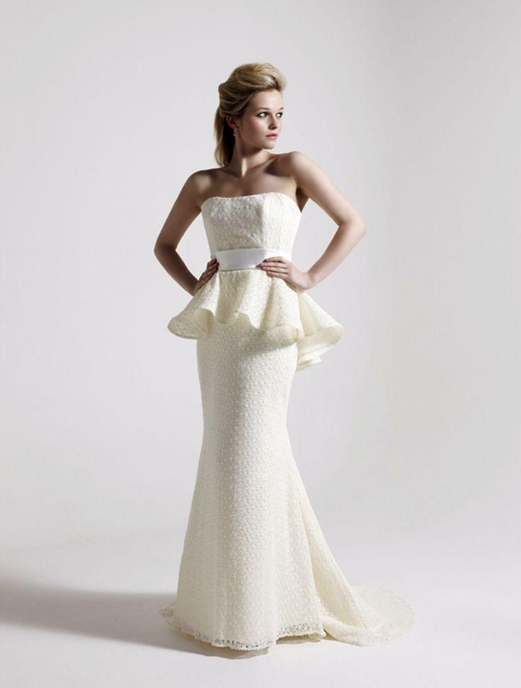New The best Peplum wedding dress ideas on Pinterest Peplum style wedding dresses Peplum gown and Elegant evening gowns