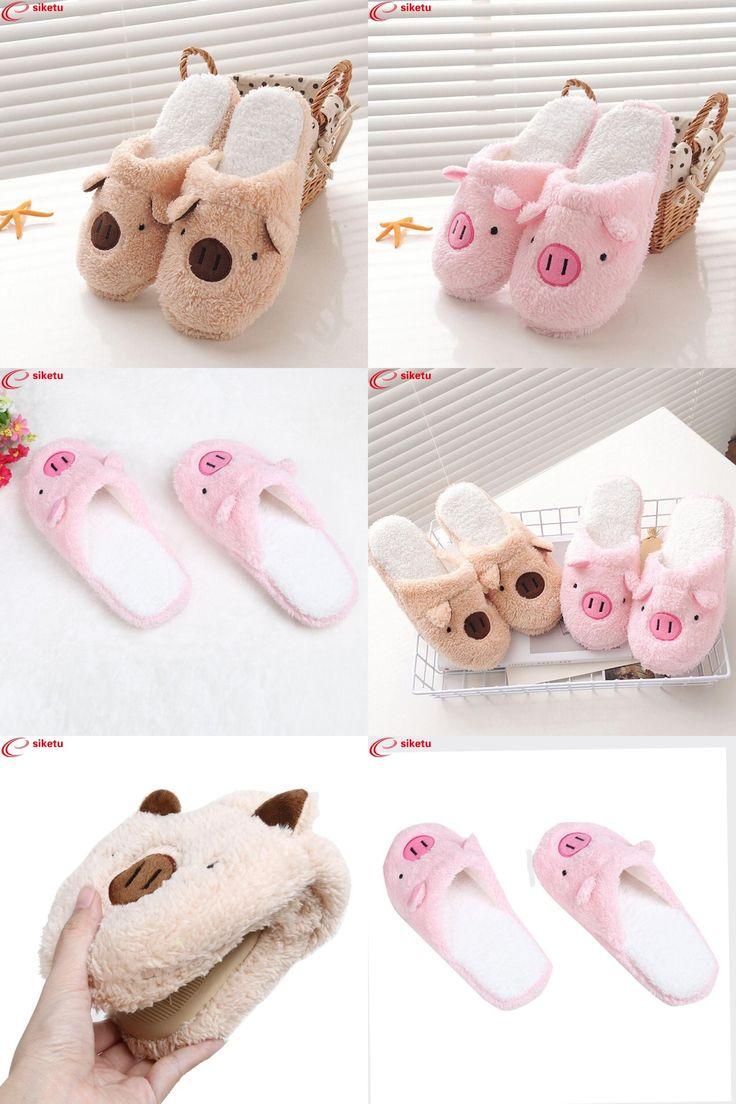 [Visit to Buy] siketu Best Gift Lovely Pig Home Floor Soft Stripe Slippers Female Shoes Drop Shipping Jn7 Y30 #Advertisement