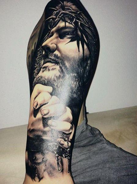 28 best Jesus Half Sleeve Tattoos For Men Drawings images