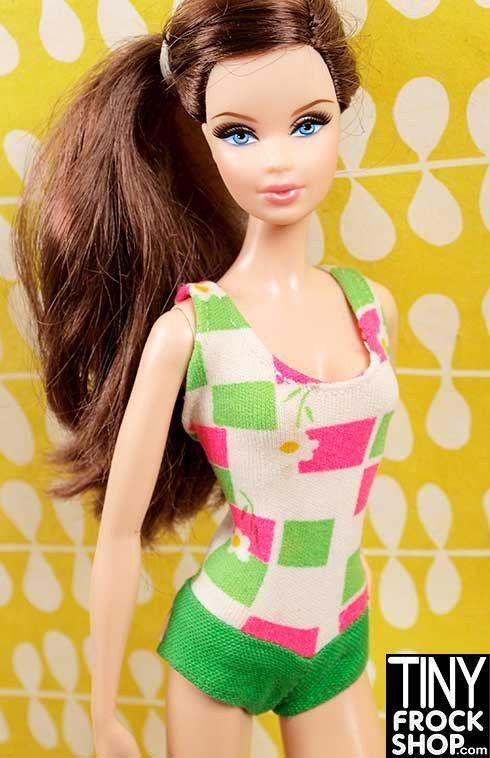 Barbie Vintage #1130 Francie Swimsuit 1965 Japan Label