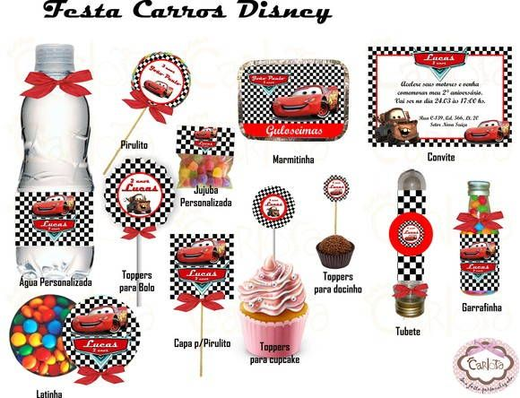 Kit Festa Carros Disney                                                                                                                                                      Mais