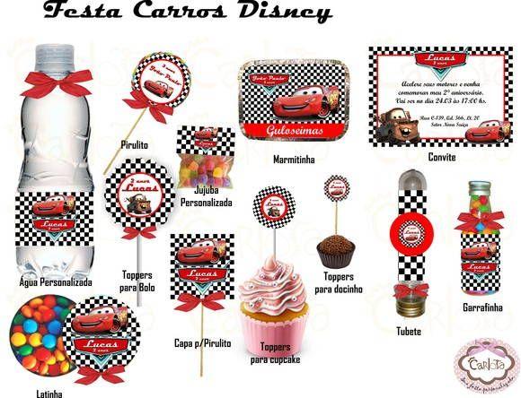 Kit Festa Carros Disney                                                                                                                                                      Mais