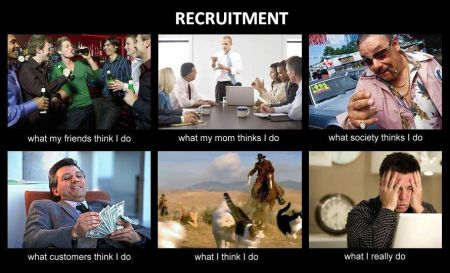 Recruitment: What you think I do, what I really do.   LOL ...