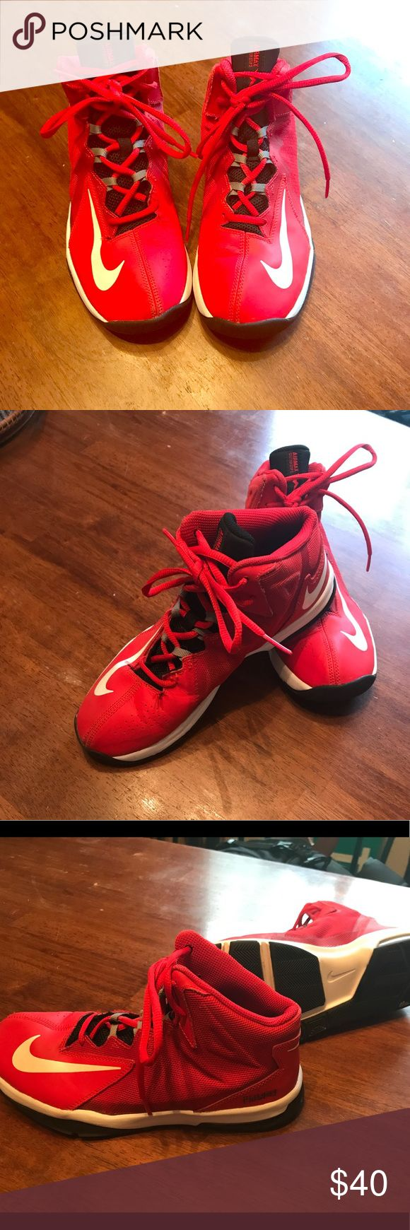 Boys Nike Air Max Stutter Step 2 Basketball shoe Boys Size 6.5Y, Nike Air Max Stutter Step 2 basketball Shoe; Red; great shape and condition. Worn only a few games, indoors. Nike Shoes Sneakers