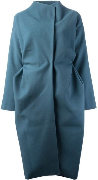 """cocoon coat - lanvin  """"buy the coat, the bag and the shoes of the season...what's underneath doesn't matter so much"""""""