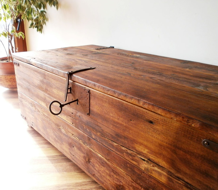 giant rustic traveling box