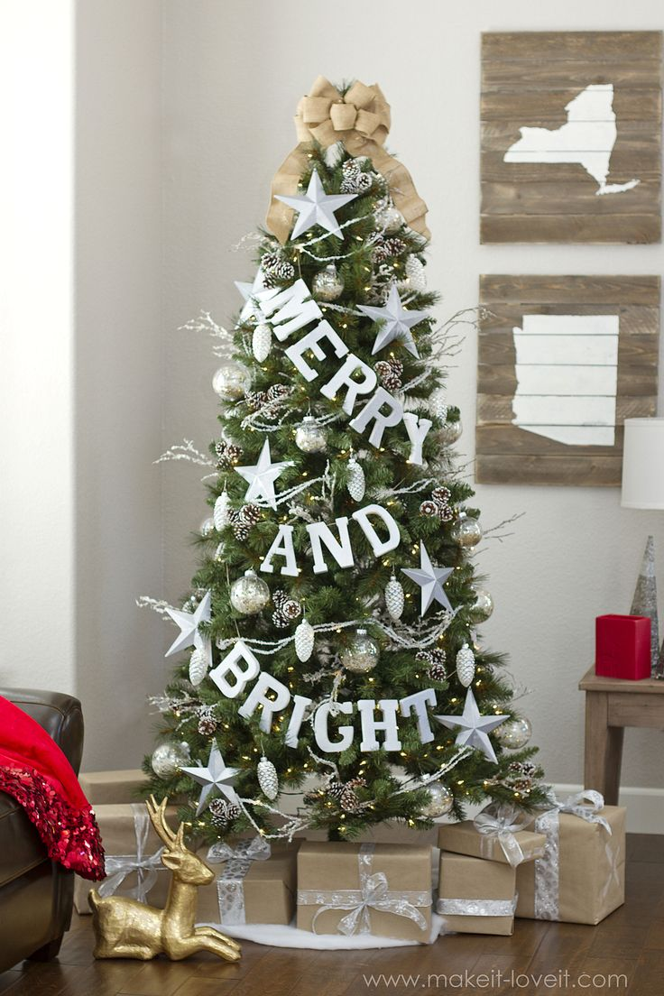 Non traditional christmas tree ideas - Merry And Bright Tree