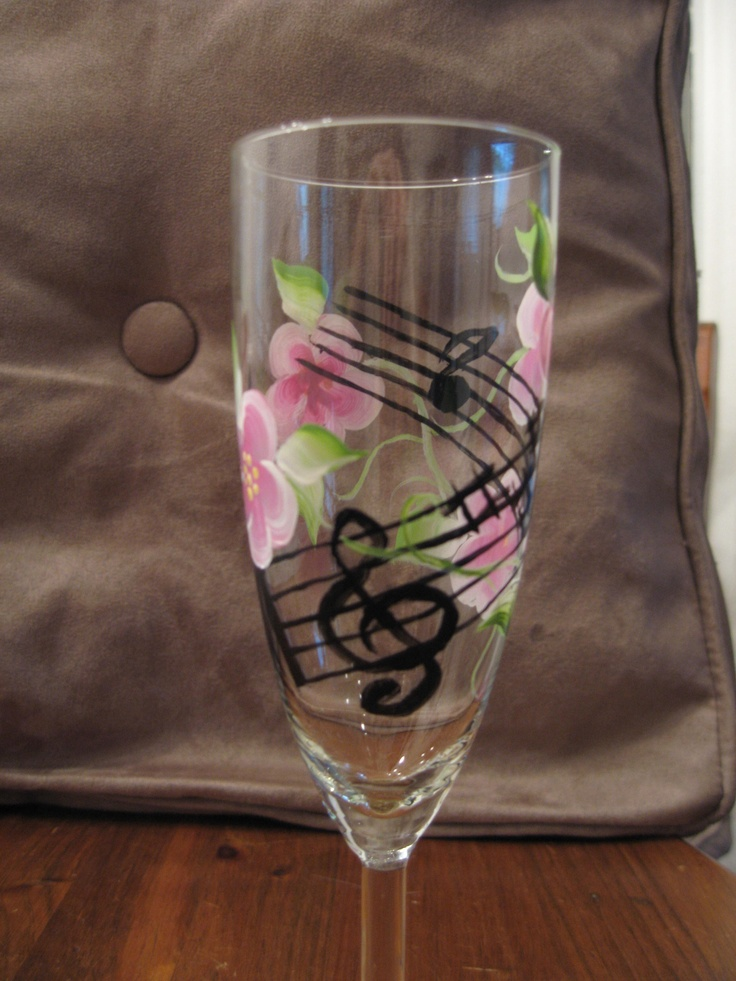 93 best hand painted glassware images on pinterest for Spray painting wine glasses