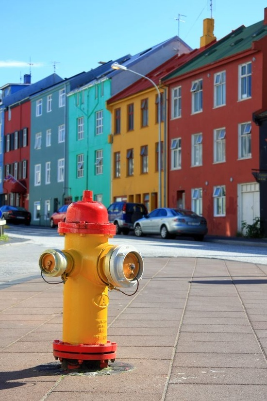 """Downtown Reykjavik, Iceland    BET THEY HAVE THE LOVELY COLORFUL BUILDINGS TO BOOSTER UP """"SPIRITS"""" WHEN IT GETS COLD......ccp"""