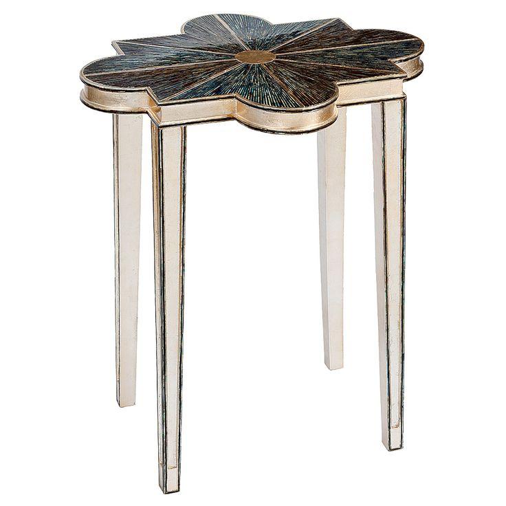 Regina Andrew Quatrefoil Abalone Accent Table @Zinc_Door