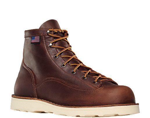danner bull run 6 quot brown cristy plain toe work boots