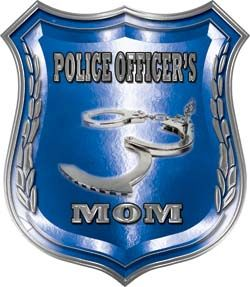 police officer mother badge | Law Enforcement Police Shield Badge Police Officer's Mom Decal ...