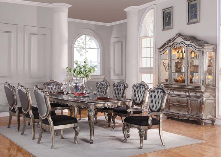 Acme 63540 Rectangular Dining Set Chantelle Peal White Finish Inspiration 9 Pcs Dining Room Set Review
