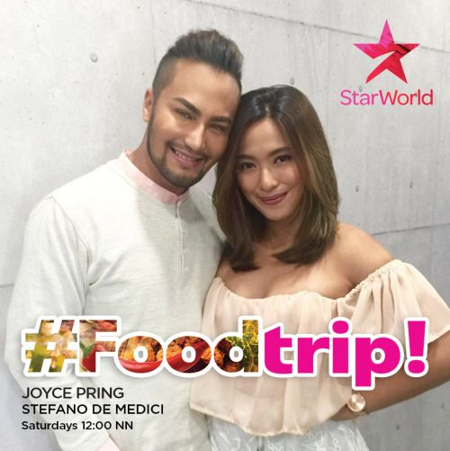 FOODTRIP returns on Starworld this September 17 with Les Roches Switzerland chef Stefano de Medici taking command of the kitchen and whipping up heirloom recipes with guest celebrities from Manila's crème de la crème. #Foodtrip #StarWorld #JoycePring #StefanoDeMedici #FoodShow #CookingShow