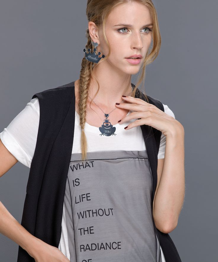 MAMY-Jo Collana e orecchini in argento 925. Earrings and necklace with steel pendant.  www.mamy-jo.com