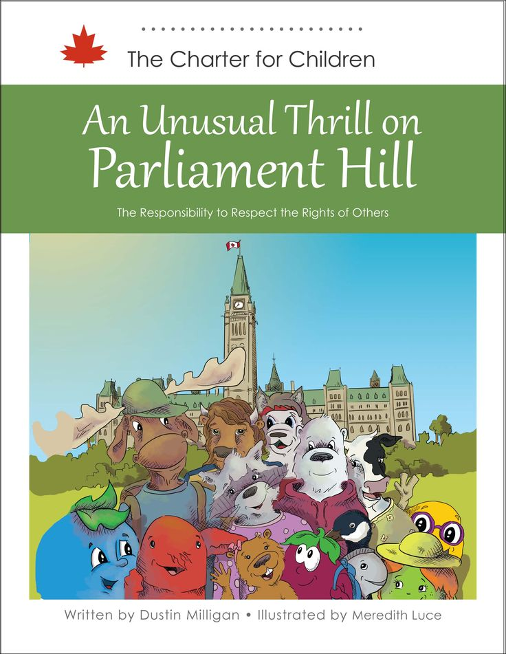 A raccoon named Olivia travels all the way to Ottawa, along with a group of young Canadians, to tour Parliament hill. Things get out of control along the way. This story seeks to teach children there are limits to their rights under the Canadian Charter of Rights and Freedoms.