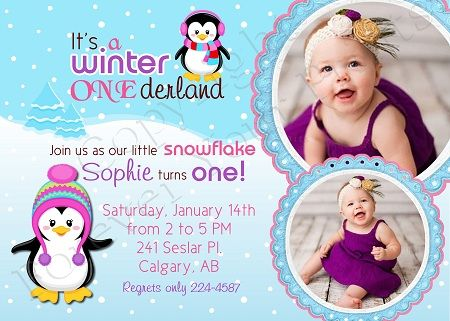 13 best winter onederland birthday party images on pinterest, Party invitations