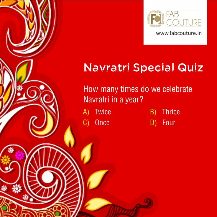 Between fasting, Dandiya and colorful festive days. Don't miss any chance to win mind-blowing prizes with Fab Couture. Here is next question of the Navratri quiz brought to you by Fab Couture team. So stay tuned, keep answering and sharing. All the best! #FabCouture #LuckyDraw #Contest #DesignerDresses #Fabric #Fashion #DesignerWear #ModernWomen #Embroidered #WeddingFashion #WesternLook #affordablefashion #GreatDesignsStartwithGreatFabrics #LightnBrightColors #StandApartfromtheCrowd…