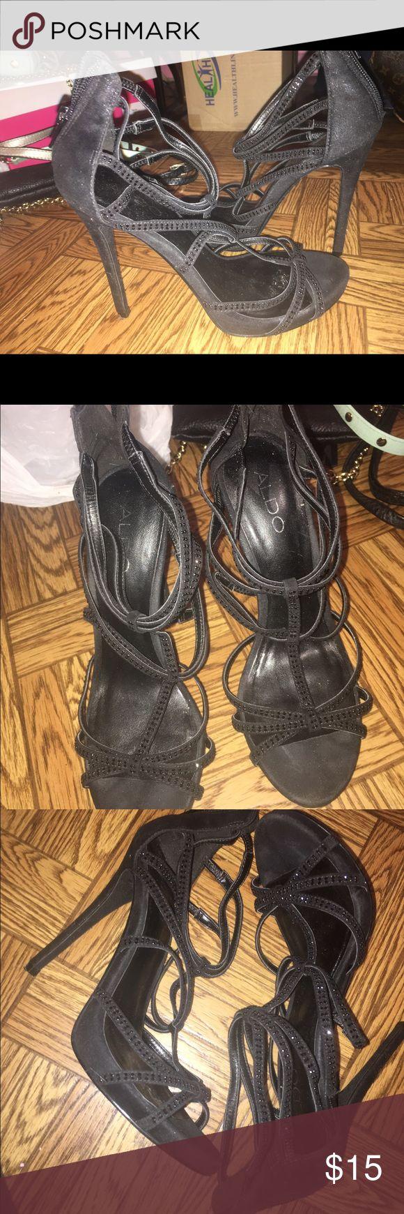 Black Aldo Heels Size 7 Black Aldo Heels Size 7 Aldo Shoes Heels