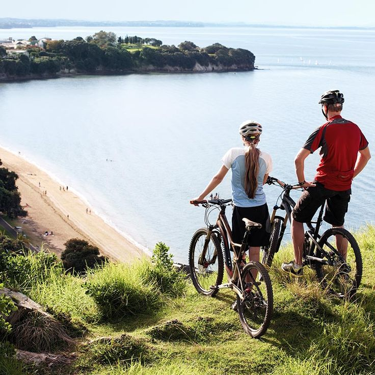 Land activities in Auckland  Enjoy a round of golf, quad bike through the forest, go horse riding along the beach or canyoning down waterfalls. Zoom around on a Harley, leap off the Sky Tower or climb the Harbour Bridge for spectacular views. 