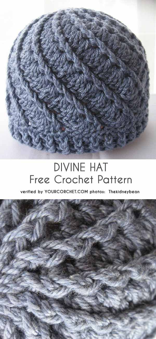 0-DIVINE-hat-free-crochet-pattern | Mützen | Pinterest | Häkeln ...
