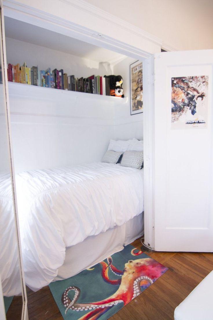 Lauren s Eclectic San Francisco Apartment  Bed In ClosetCloset. 17 Best ideas about Closet Bed on Pinterest   Closet bed nook