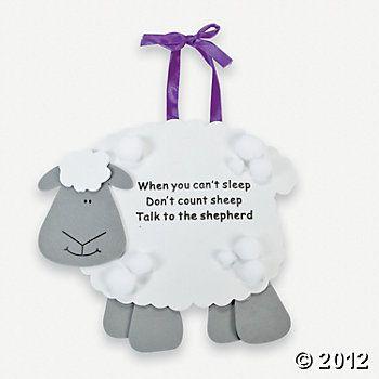 """Talk To The Shepherd"" Lamb Craft Kit (12/8.25 @ Oriental Trading)"