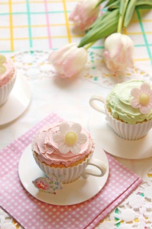 Citromos cupcake tojásfehérjéből