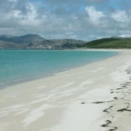 This beautiful beach is in the Western Isles of Scotland.