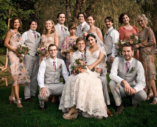 Rachel And Darrenu0027s Romantic DIY Wedding By Maggie Heinzel Neel
